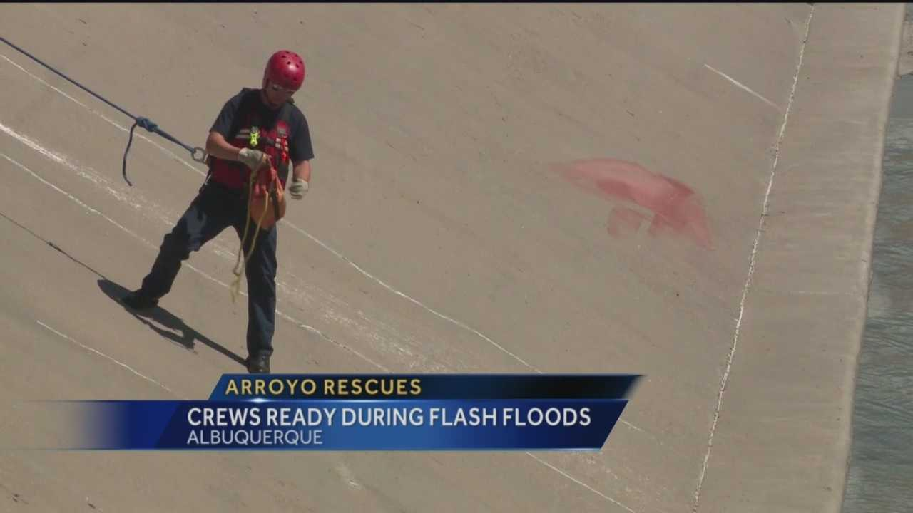 When it rains, flood channels are very violent and dangerous places, says Lt. Chris Carlsen, with the Albuquerque Fire Department.