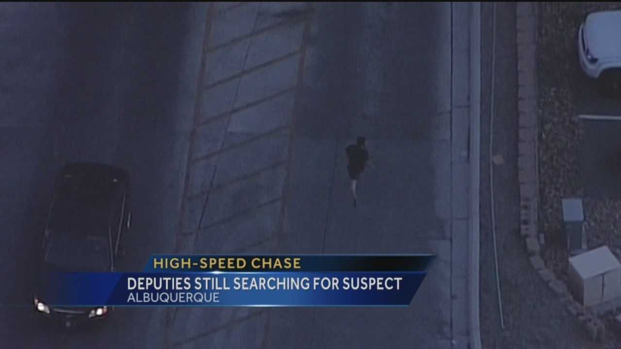 The driver speeding through Albuquerque streets is still missing tonight.