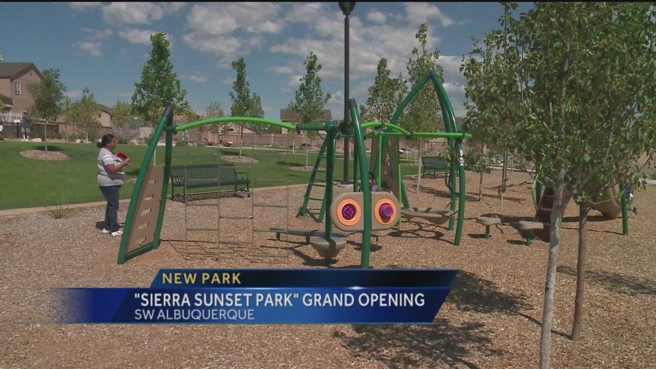 A new park in southwest Albuquerque opened just in time for fall festivities.
