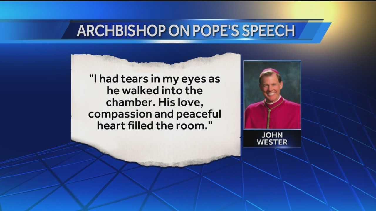 Santa Fe Archbishop John Wester was at the pope's unprecedented speech to Congress Thursday.