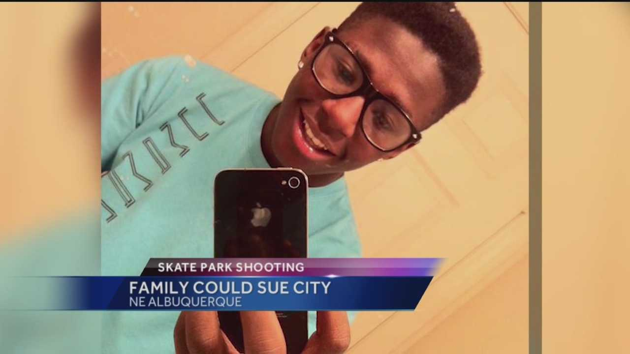 The family of an Albuquerque teen gunned down at a skate park might sue the city.