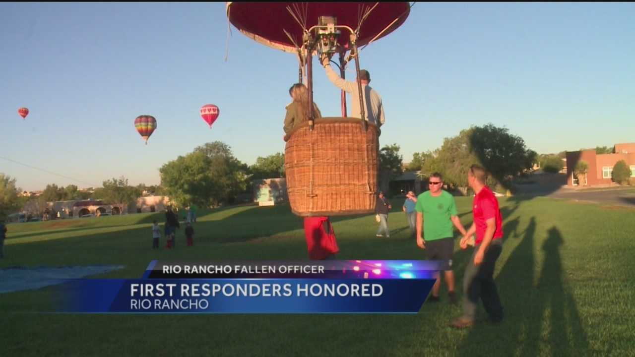 Public servants were honored with a balloon ride over Rio Rancho.