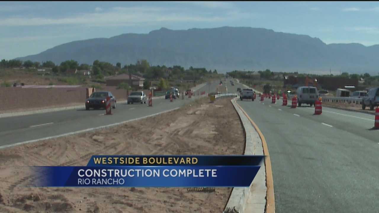 Westside Boulevard Construction Complete