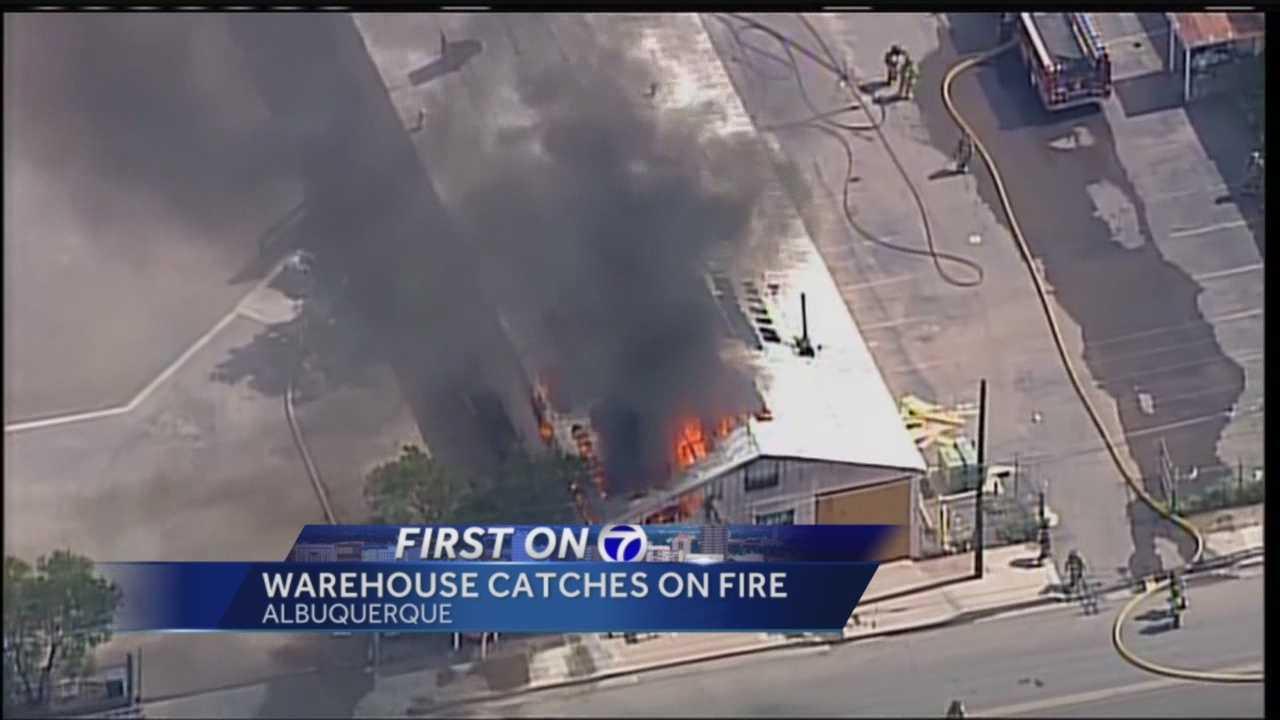 The fire shut down a block of downtown Albuquerque.