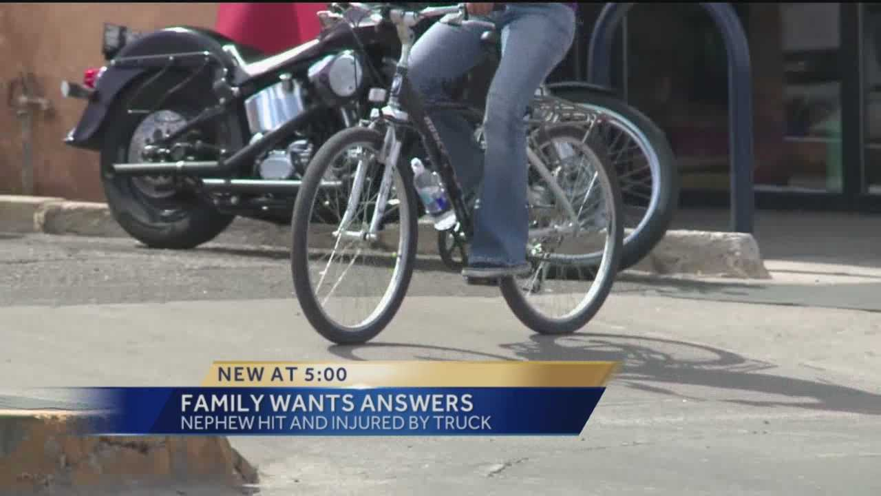 One family is pleading for answers after their nephew was run over by a car.