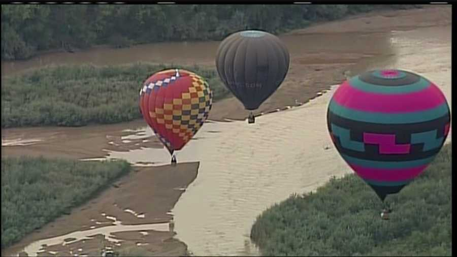 It was cloudy, but that didn't matter for Monday's Balloon Fiesta events