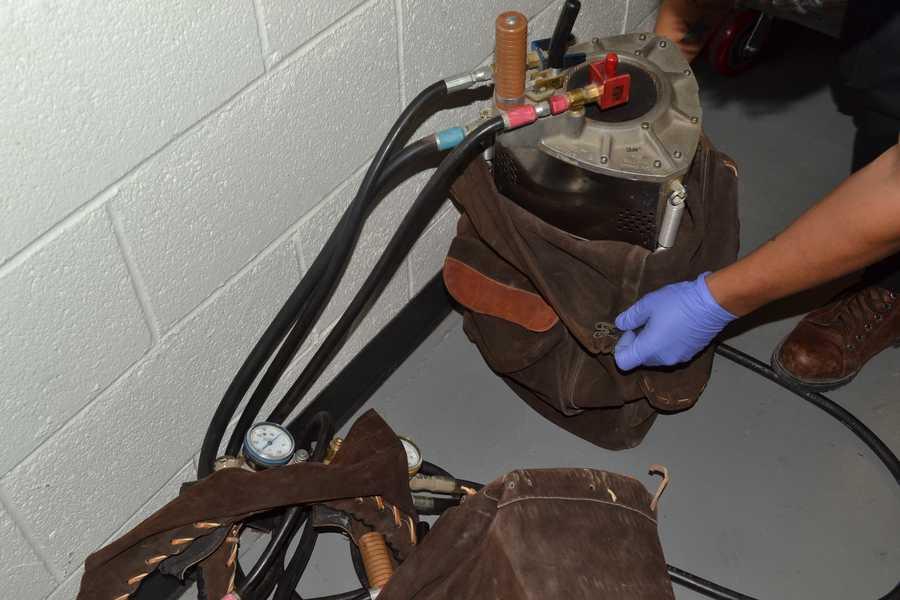 PHOTOS: Police find stolen balloon equipment