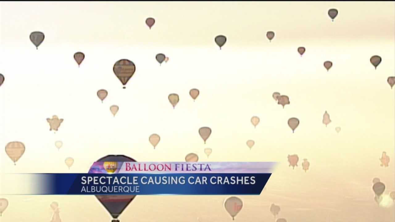 Albuquerque Police say Balloon Fiesta has been distracting drivers.