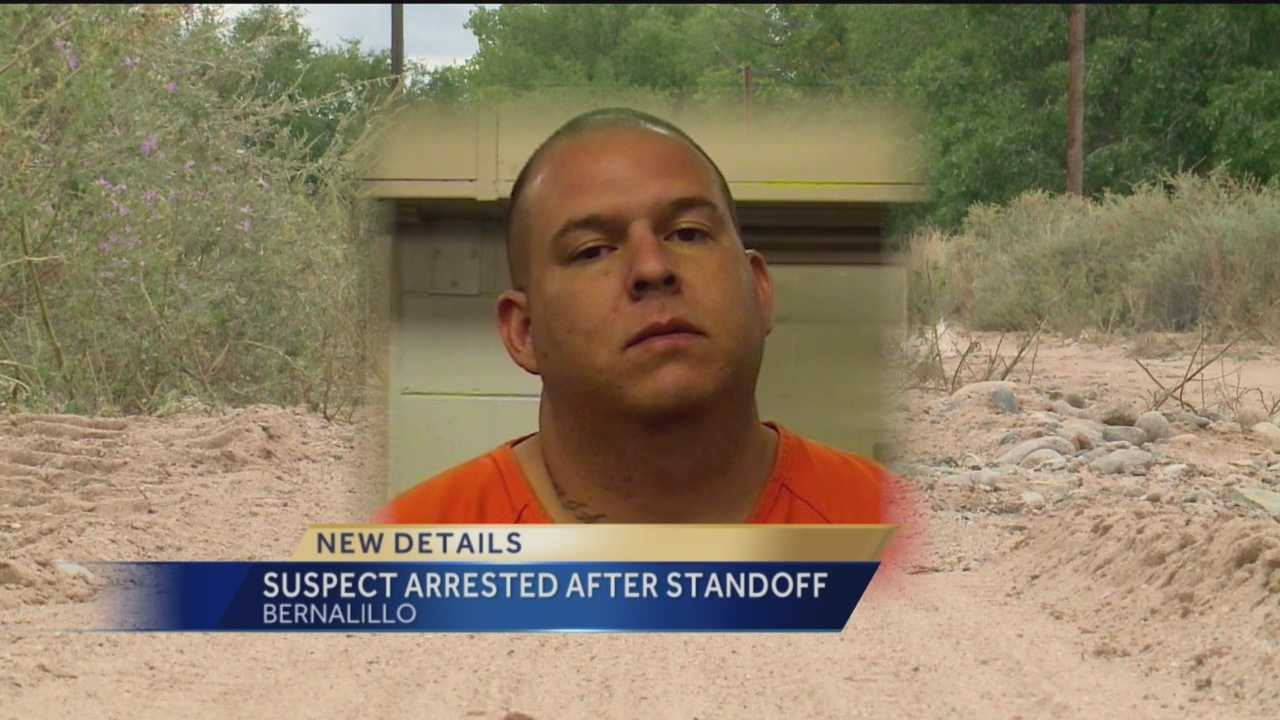 Bernalillo police say 38-year-old Oscar Anchondo spent about three hours in the back of a pickup before SWAT negotiators were able to convince him to surrender.