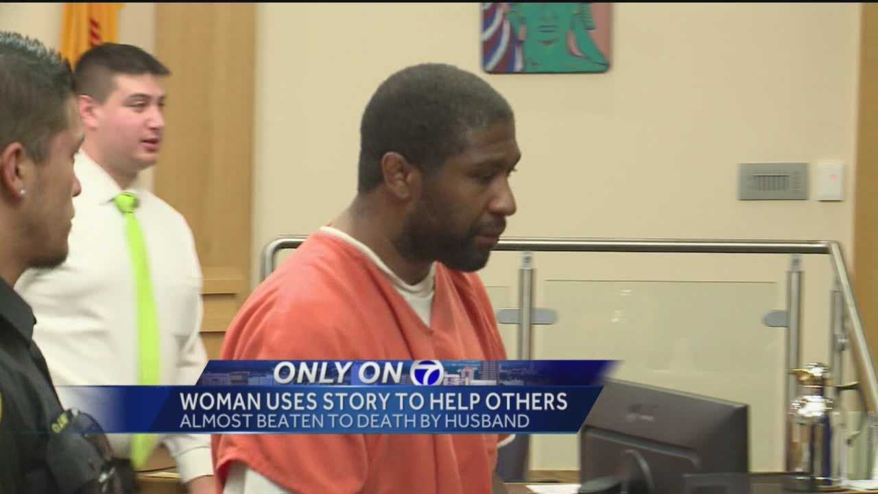 An MMA fighter accused of nearly beating his wife to death in front of her children was in court Thursday.