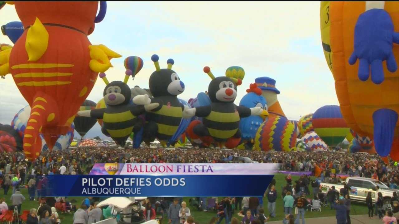 The bumble-bee family is always a hit at Balloon Fiesta, and one of its pilots is defying the odds to be in the sky.