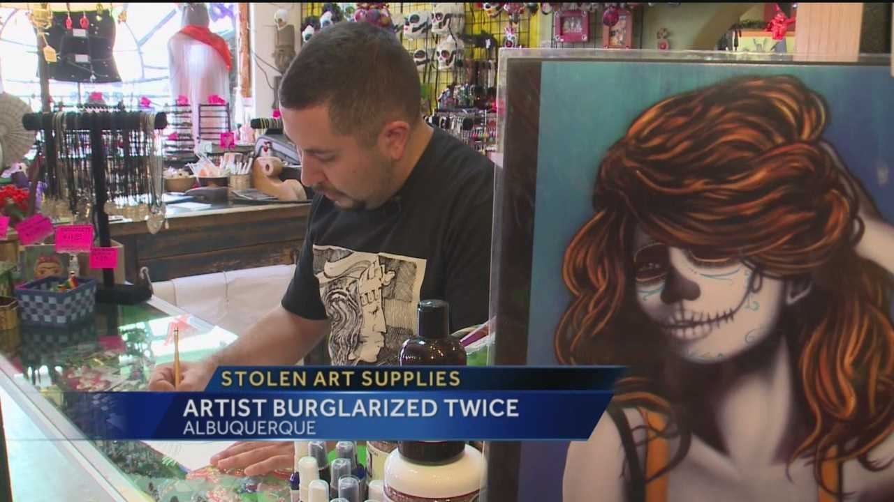 An Albuquerque artist has been ripped off twice in two weeks.