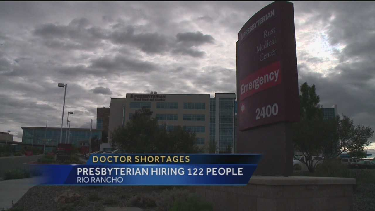 Presbyterian hospital has a problem right now and it's trying to hire a lot more people to staff it.