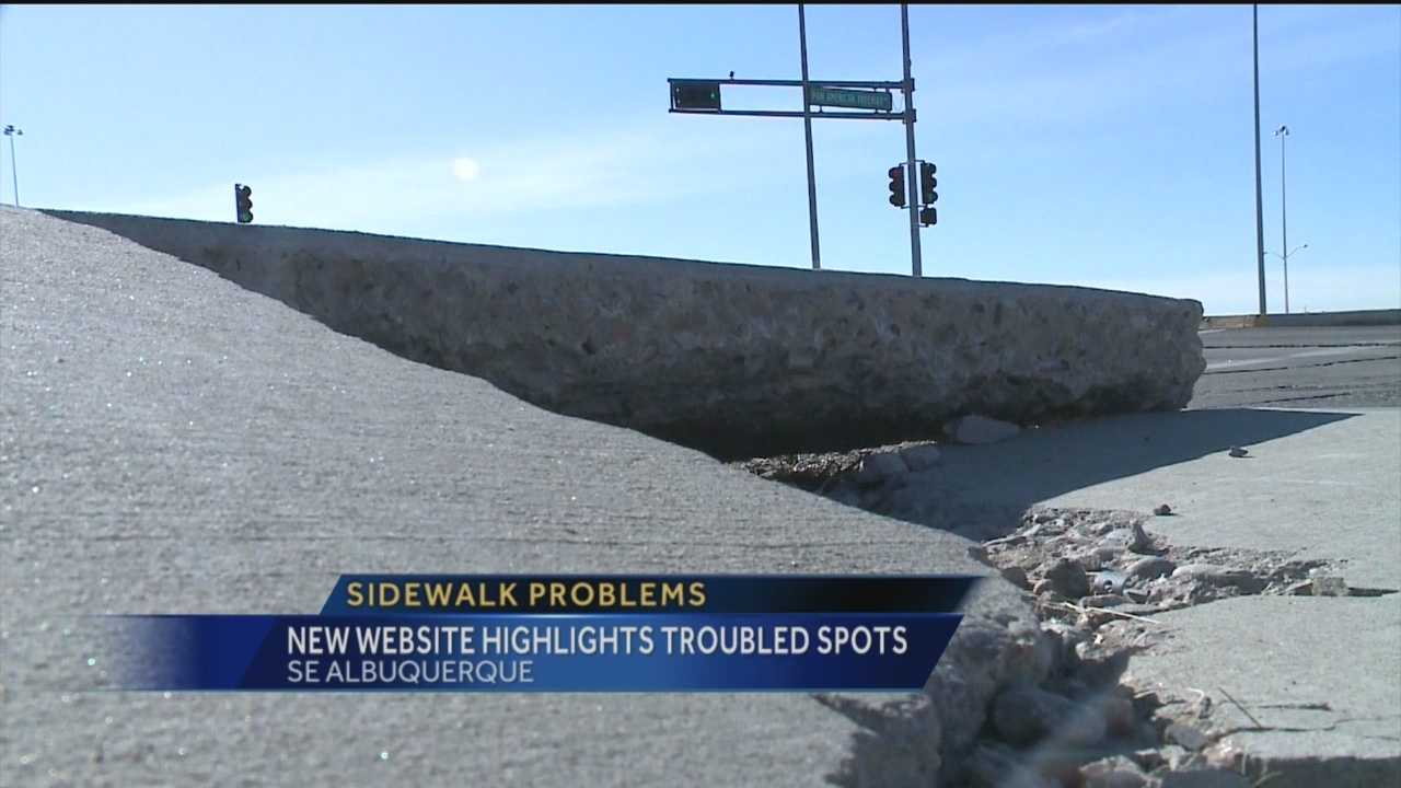 One UNM professor is putting pressure on the city get cracked, blocked and buckling sidewalks fixed.