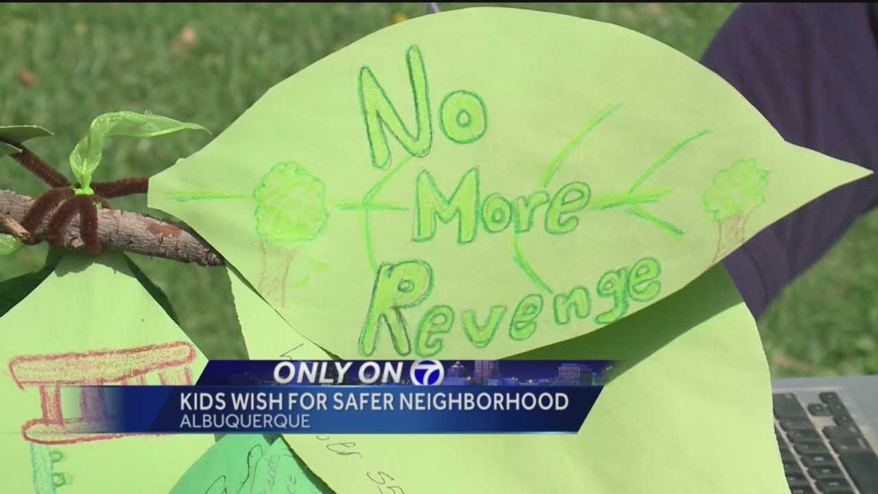 Some Albuquerque children aren't asking for toys and games.  They're wishing for peace in their own backyards.