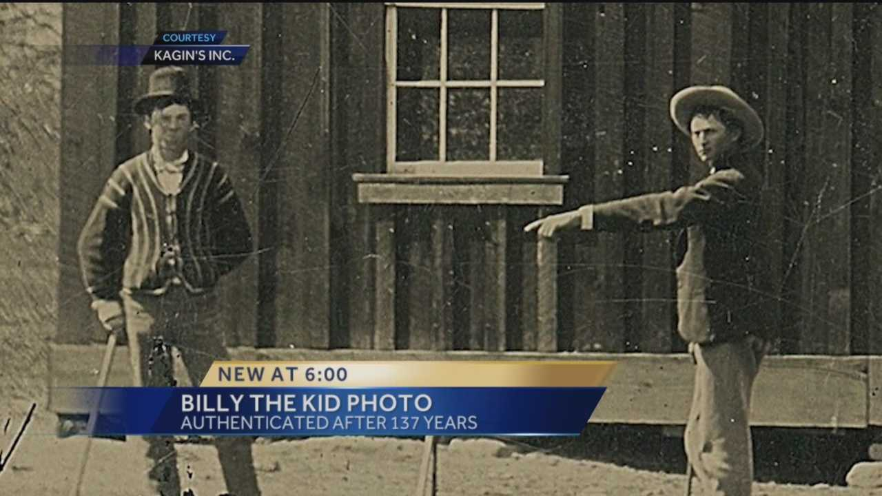 A company claims it has authenticated a newly discovered photo featuring notorious outlaw Billy the Kid and his gang hanging out and play croquet.