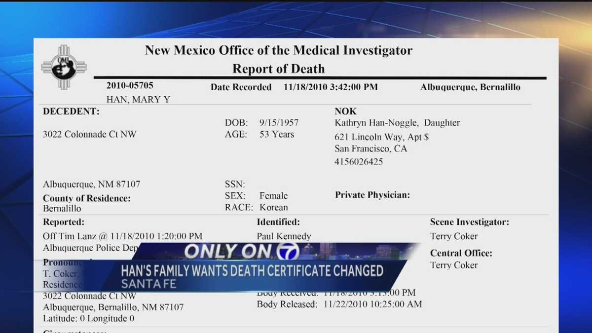 Mary hans death certificate may change 1betcityfo Choice Image