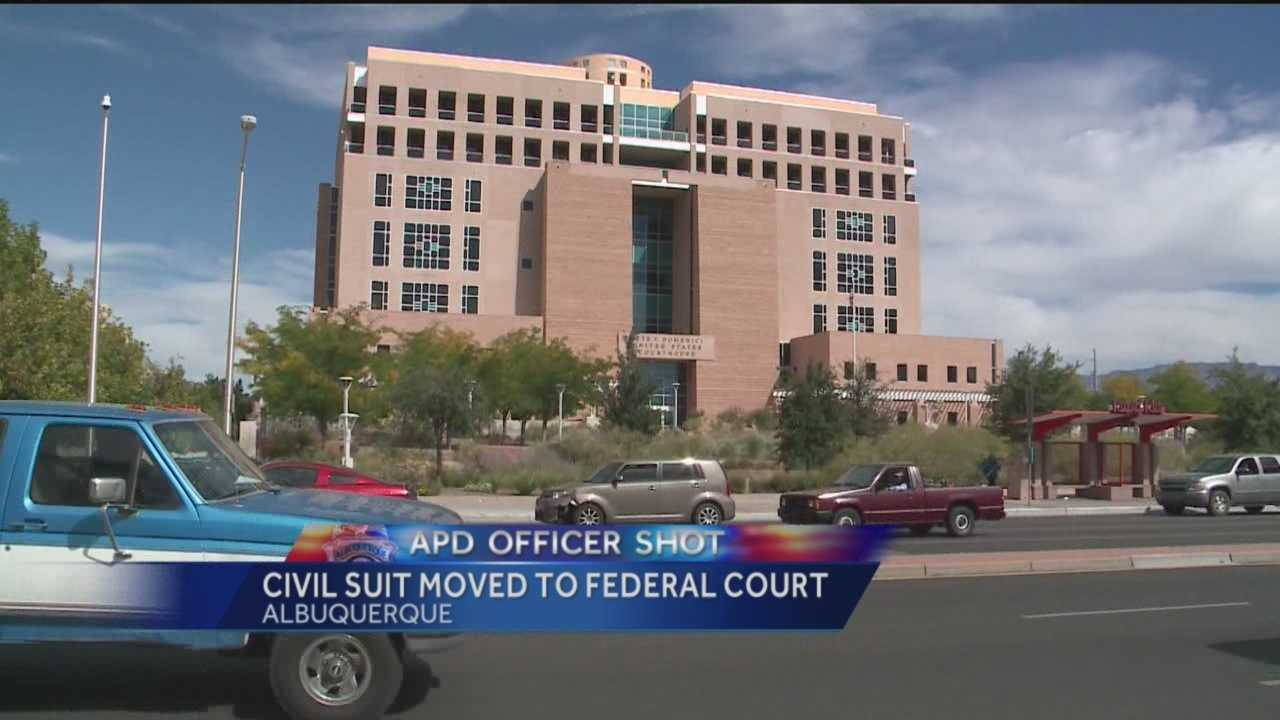 An Albuquerque police officer nearly killed by his own lieutenant is suing.
