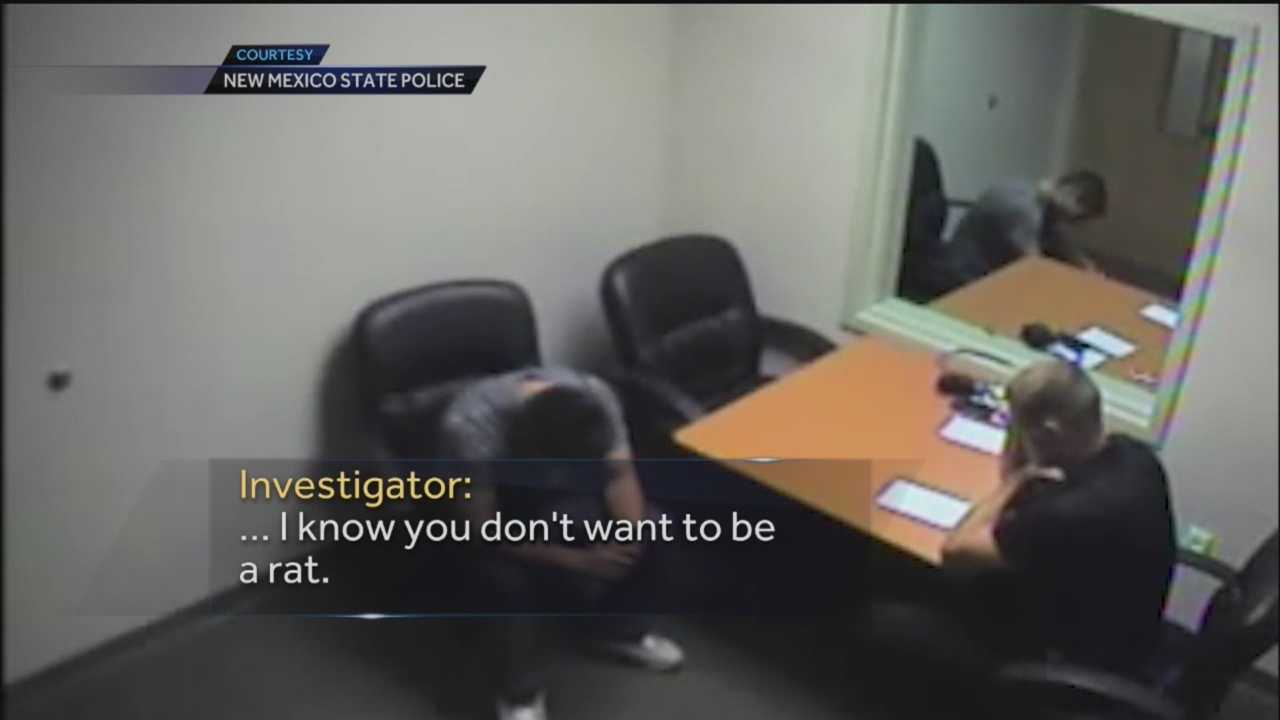 Newly released video shows the interrogation of a suspect in a 2014 officer-involved shooting. In it, officers try to get Robert Baca to turn on his partner.