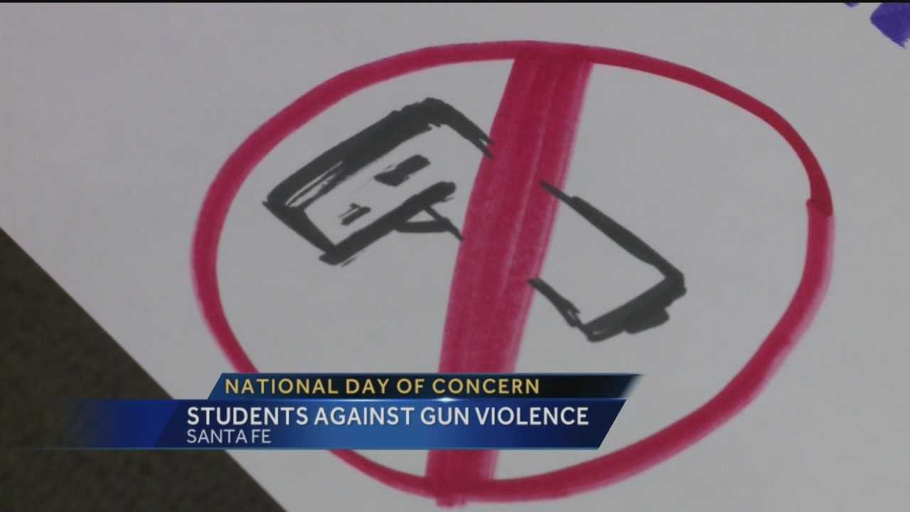 Hundreds of Santa Fe students will voice their concerns about gun violence Wednesday.