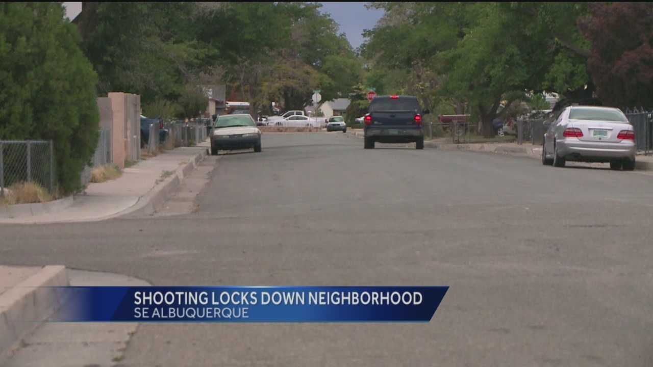 When a police officer was shot in southeast Albuquerque, it made for some very scary moments for those closest to the danger.