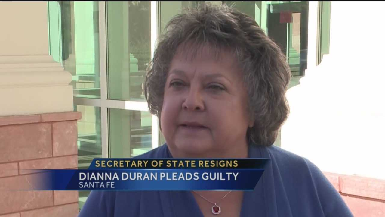 Secretary of State Dianna Duran resigned and then took a plea deal in a case where she's accused of misusing campaign donations.
