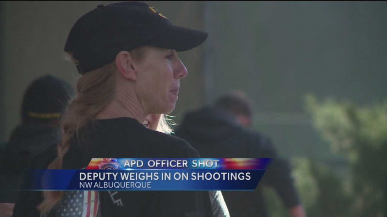 The recent shootings struck a chord throughout Albuquerque. Bernalillo County Sheriff's deputy Robin Hopkins explains the importance of community support.
