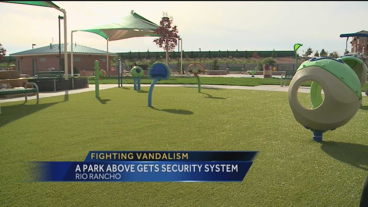 A long-awaited park in Rio Rancho is closer to being finished, one of the latest things to be installed is a high-tech security system.