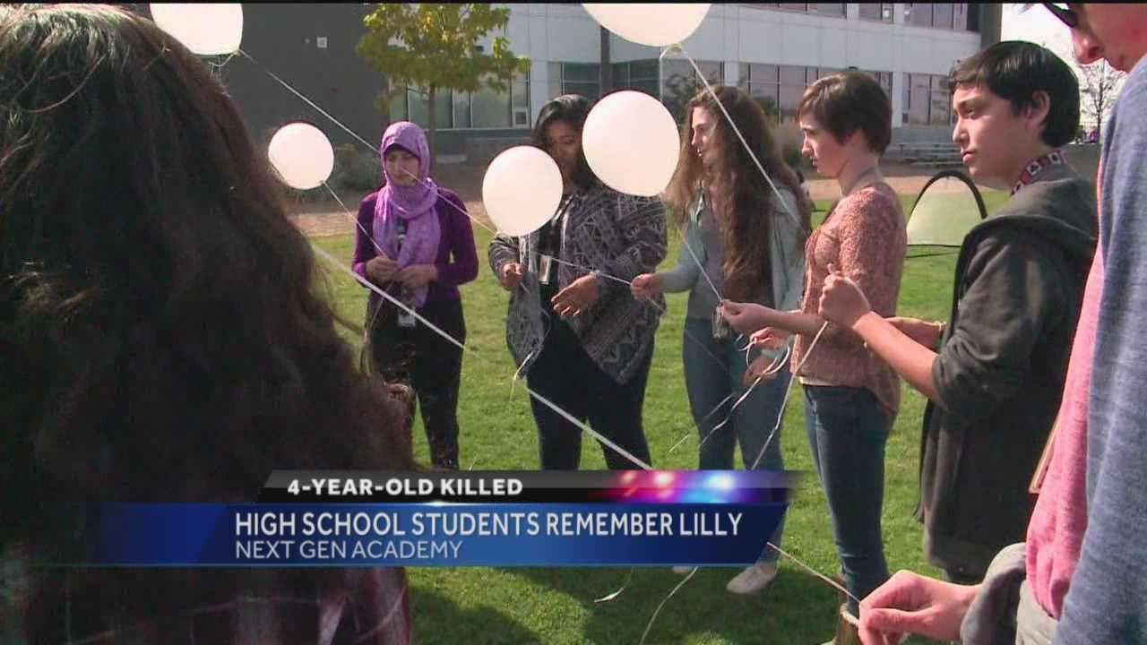 Lilly Garcia is in the hearts of many Albuquerque residents after last week's tragic road rage attack, and several area high school students gathered to do something special Monday.