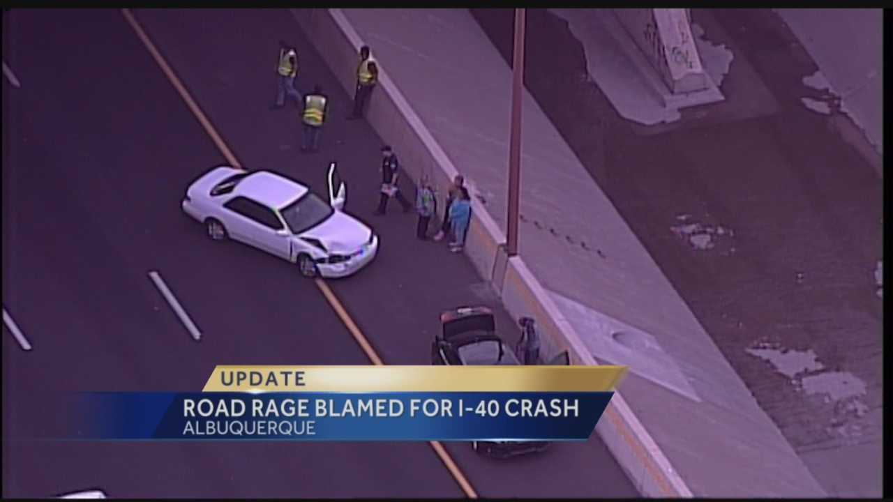 A road rage incident led to two other accidents on Interstate 40 Wednesday, according to Albuquerque police.