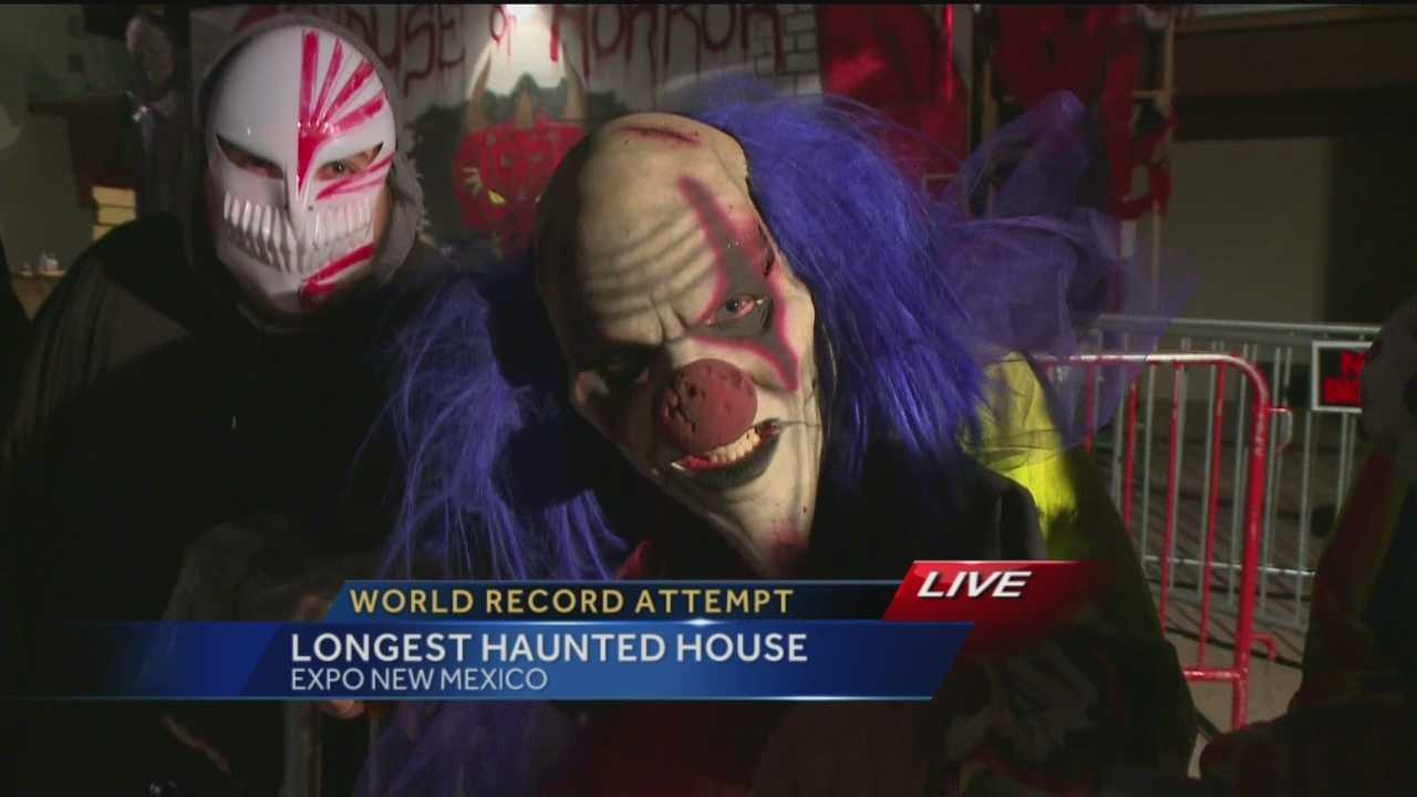 An Albuquerque haunted house is looking to set a Guinness World Record for the longest haunted house in distance.