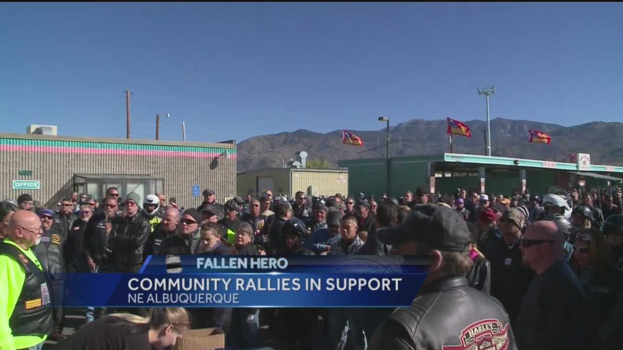 A motorcycle rally was held in support of Albuquerque Police Officer Daniel Webster.