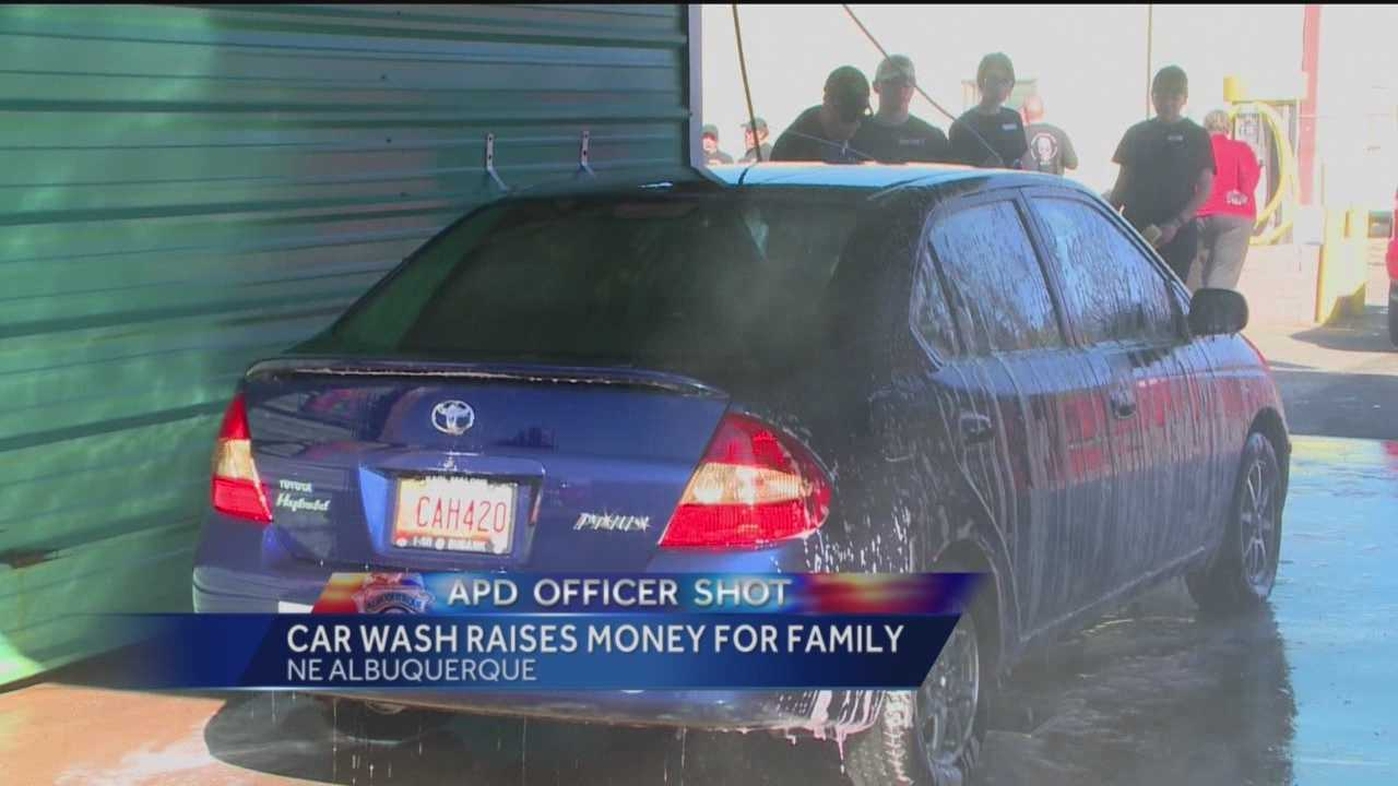 Many people in Albuquerque want to help the family of fallen APD Officer Webster. First responders from all over the metro pitched in at a car war to help raise money for his family.
