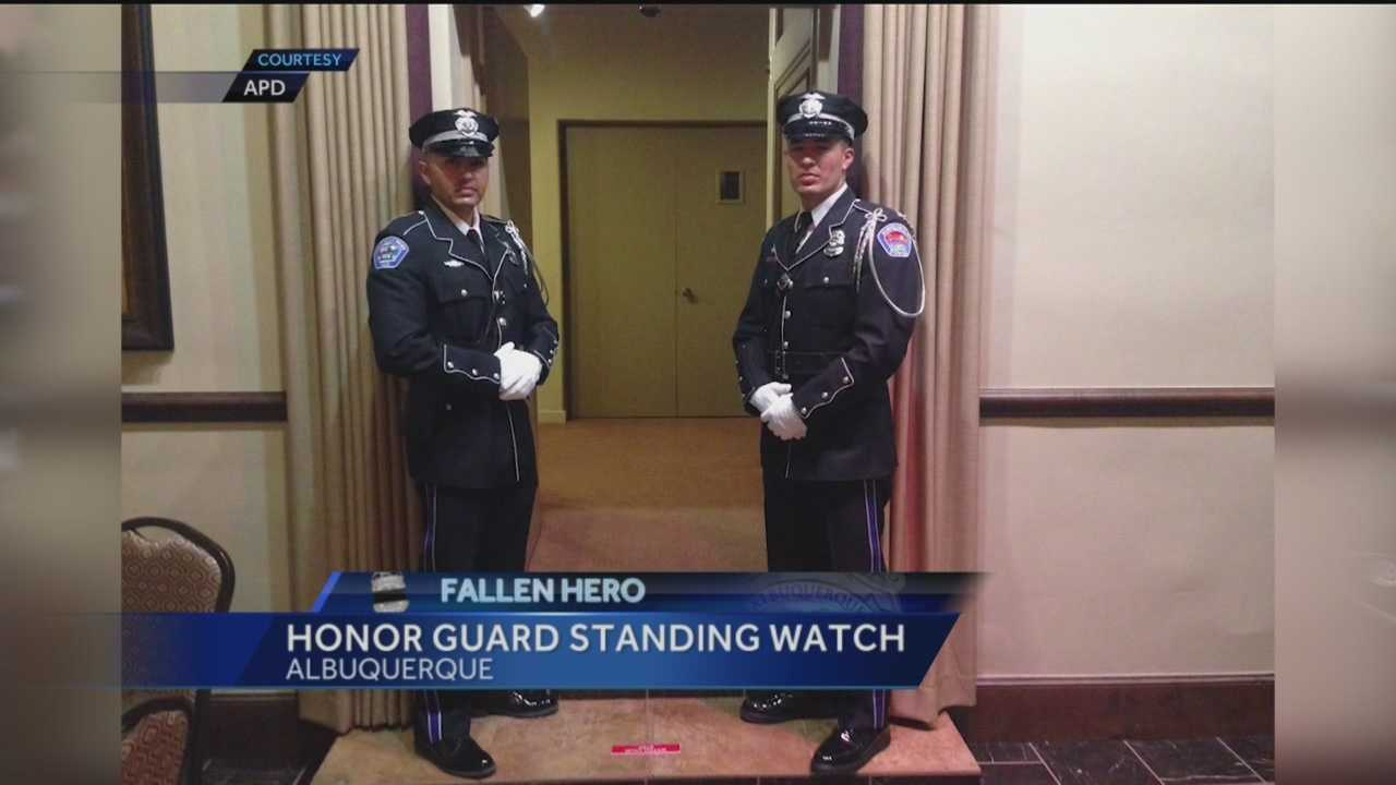 While loved ones prepare to say goodbye tomorrow an honor guard will be standing watch over Officer Dan Webster into the night.