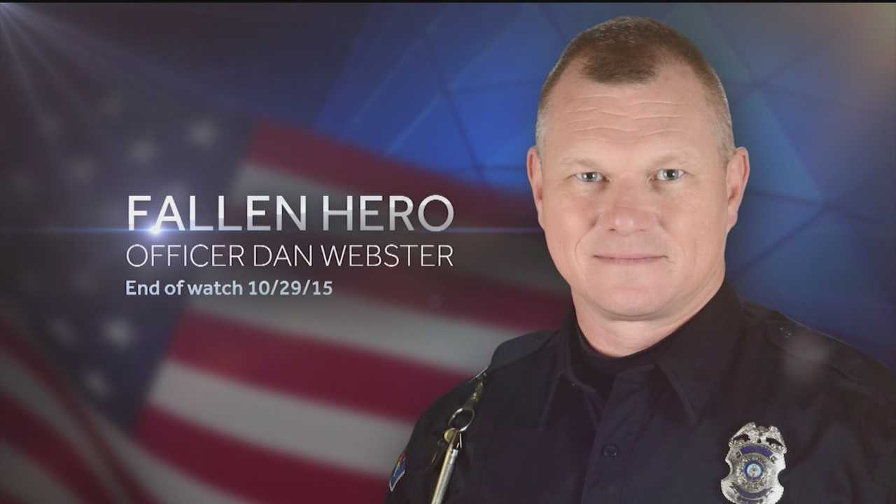 Hundreds of people packed the Kiva auditorium Tuesday morning to say goodbye to fallen Officer Dan Webster.