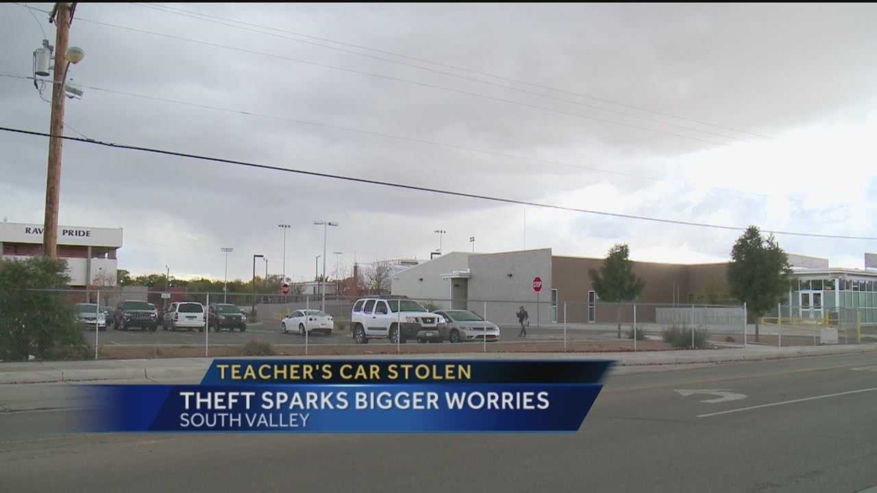 One Albuquerque teacher says his car was stolen right from the parking lot during class.