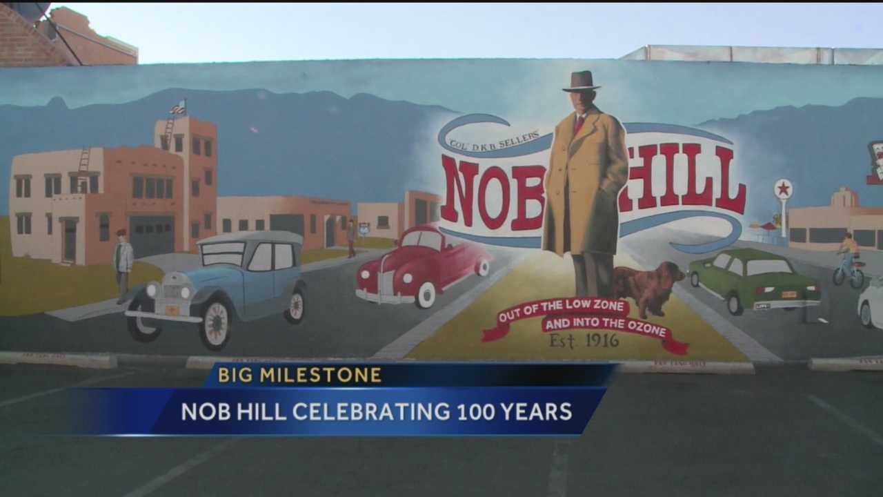 The first Albuquerque suburb is reaching a milestone, next year Nob Hill is turning 100. Leading up to the date the neighborhood is hosting all kinds of events, and making a few colorful changes too.
