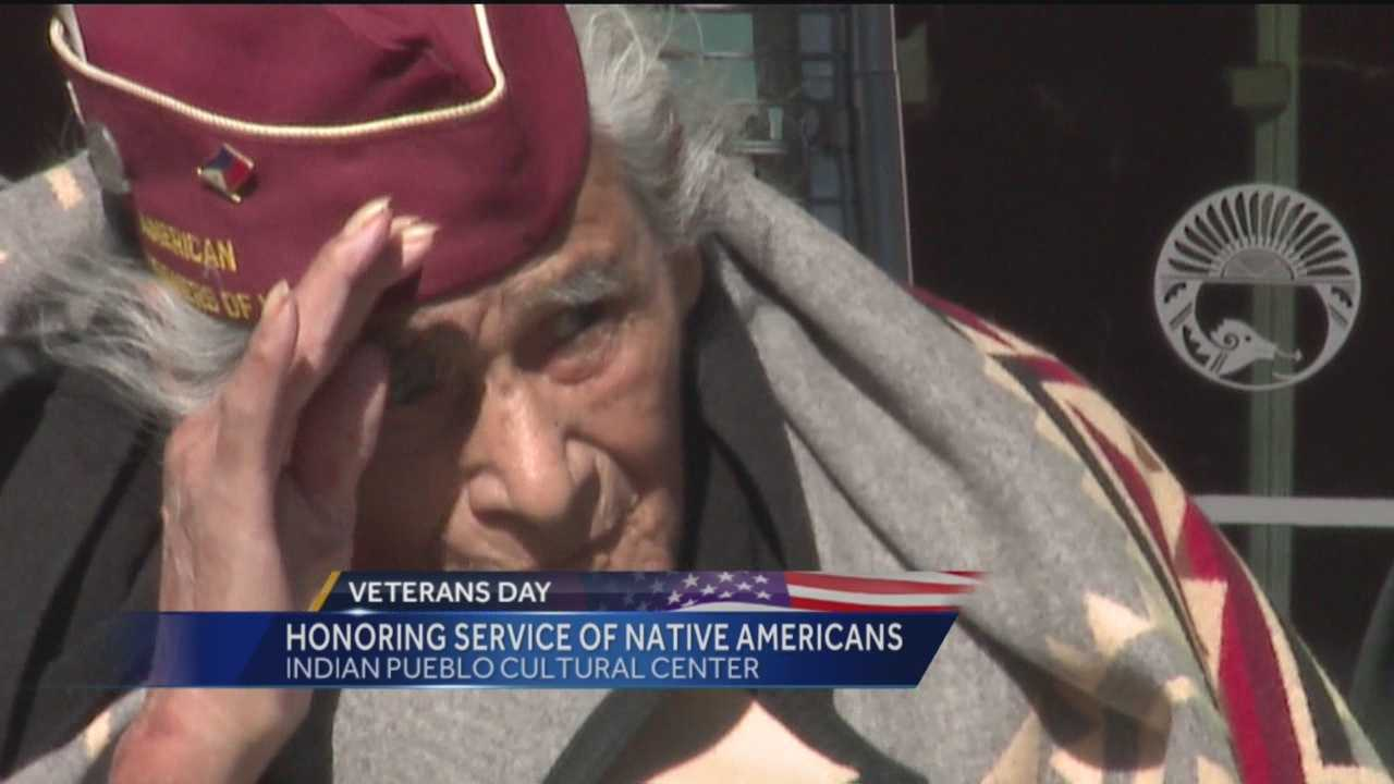 The Indian Pueblo Cultural Center honored Native American veterans Thursday, including a 99-year-old World War II Veteran who survived the Bataan Death March.