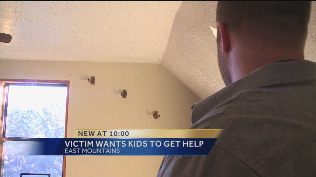 The victim of a recently burglary isn't just speaking out about the crime, but how the accused offender enlisted the help of his young sons to pull it off.