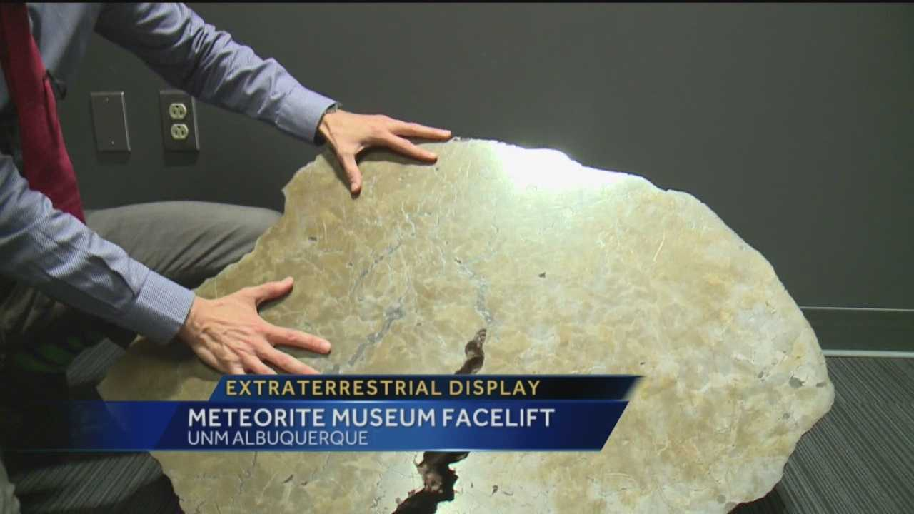 The meteorite exhibit at University of New Mexico has been in Albuquerque for more than 40 years. And in October, it got a much-needed face-lift.