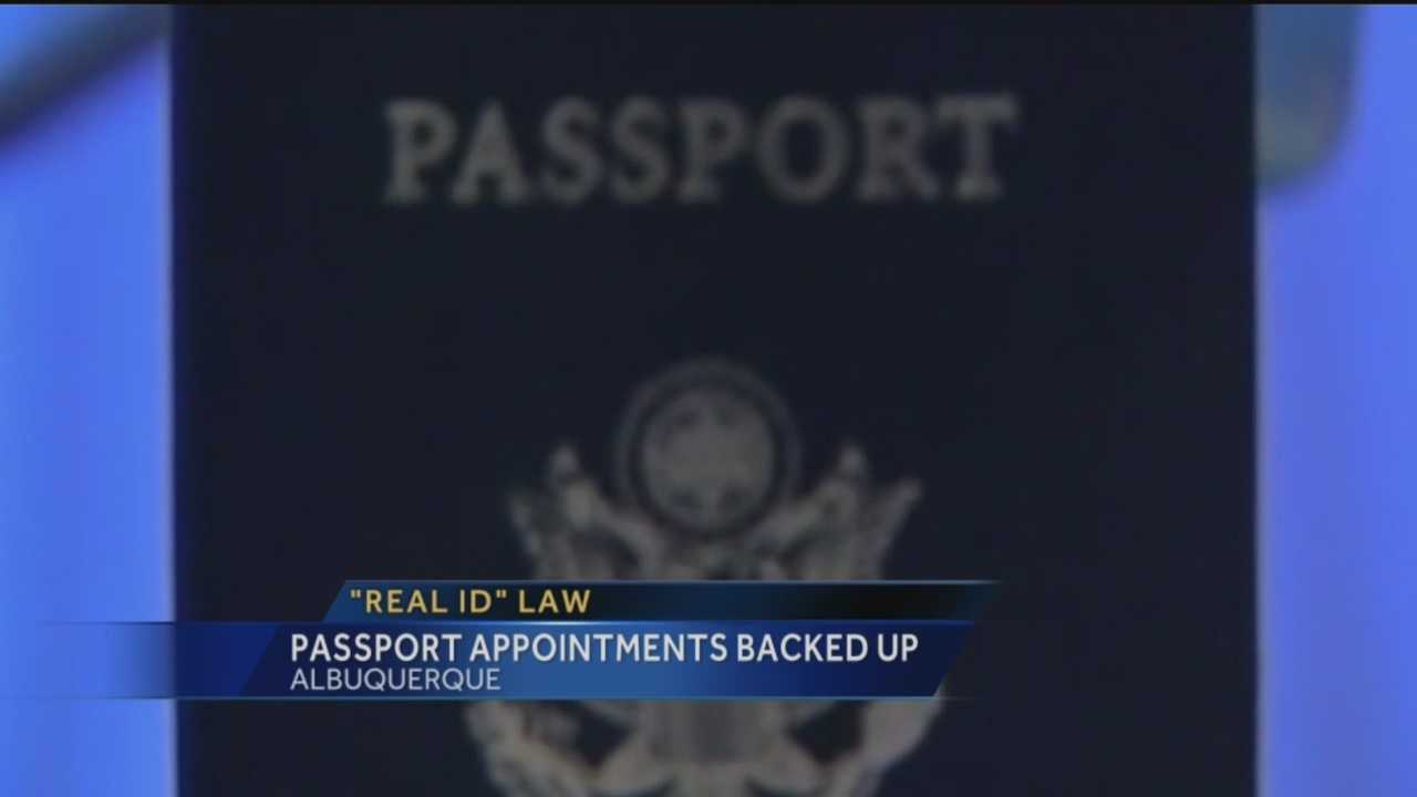 Pretty soon New Mexico Driver Licenses won't get you into federal facilities, as well as the airport. But getting a passport may take awhile.