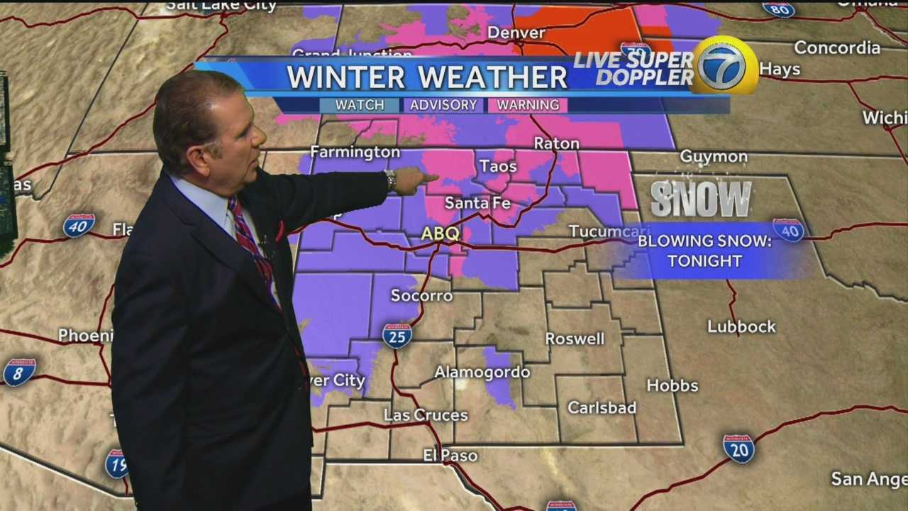 Overnight snowfall is expected in some parts of New Mexico.