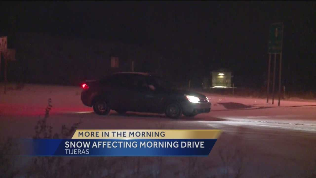 Snow Affecting Morning Drive
