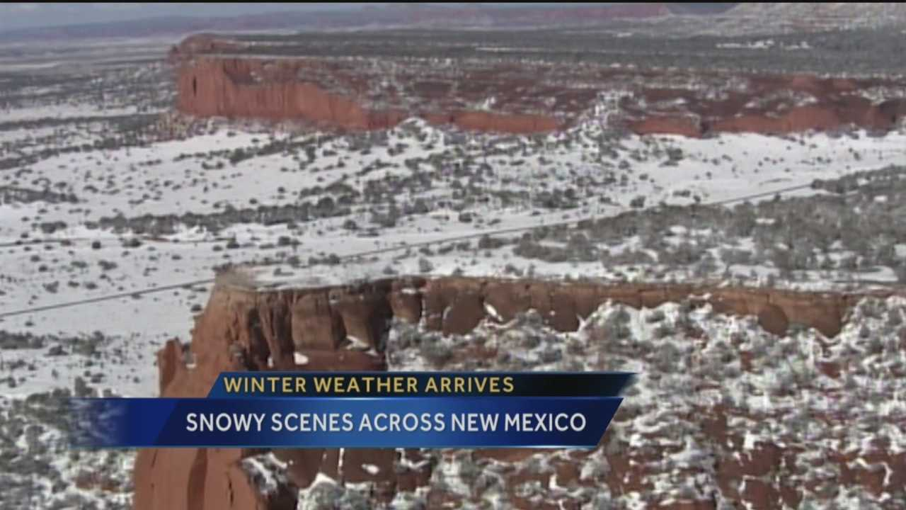 It was a snowy scene across the Land of Enchantment on Tuesday.