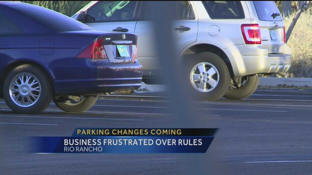 Just about all of us have gotten a little irritated one time or another because we couldn't find a parking space. But a Rio Rancho business owner has a much different problem, too many spaces.