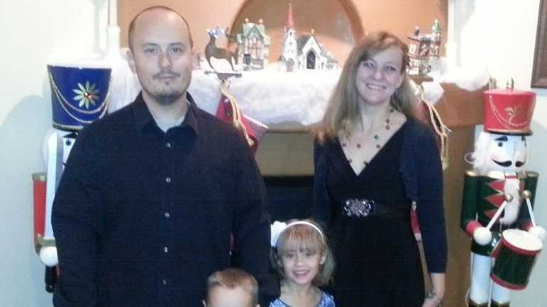 A photo of Jacob Grant and his family.