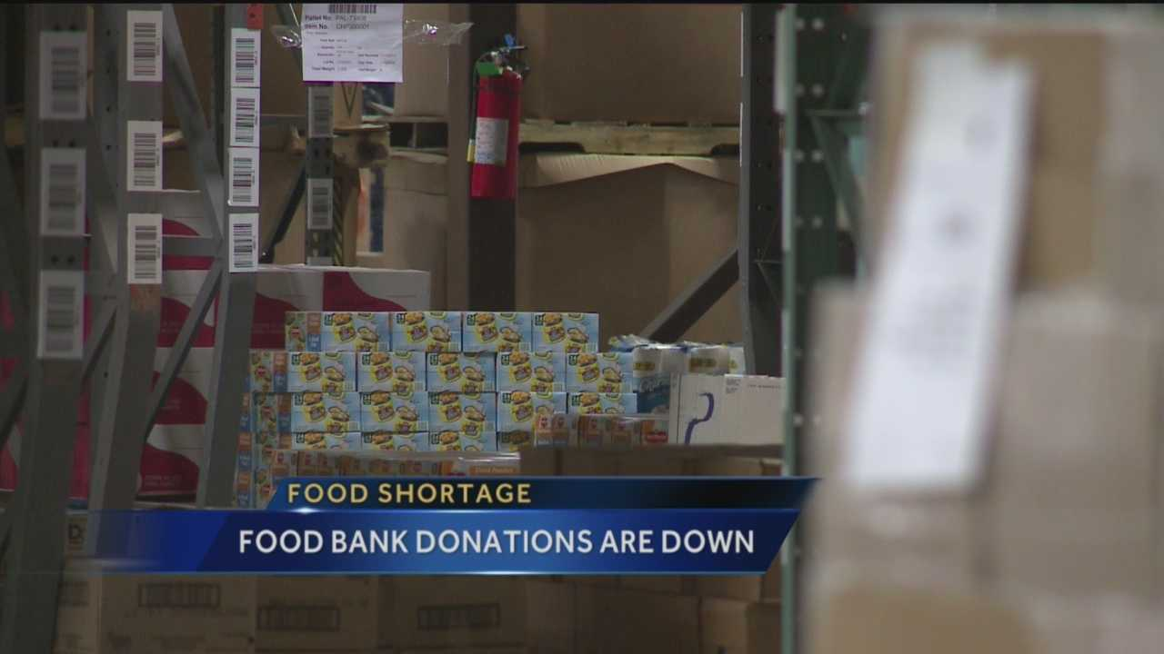 Food Bank Donations Are Down