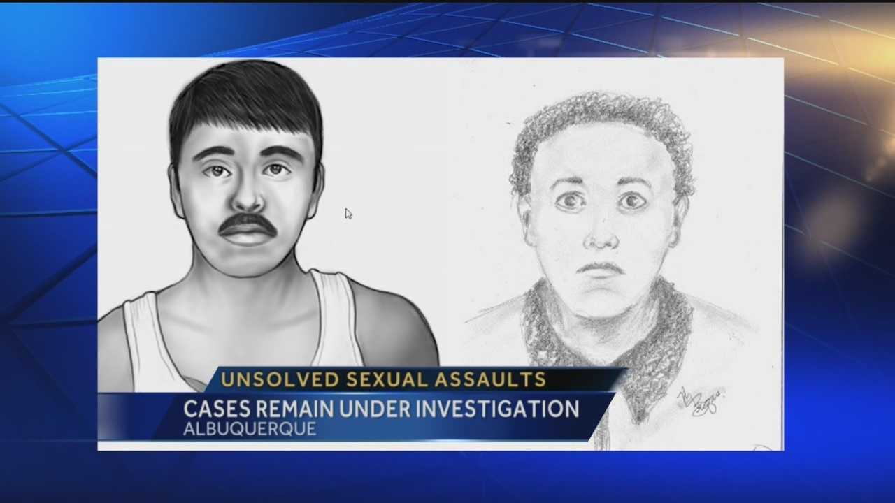 Police are still searching for two suspects accused in frightening sexual assaults involving joggers.