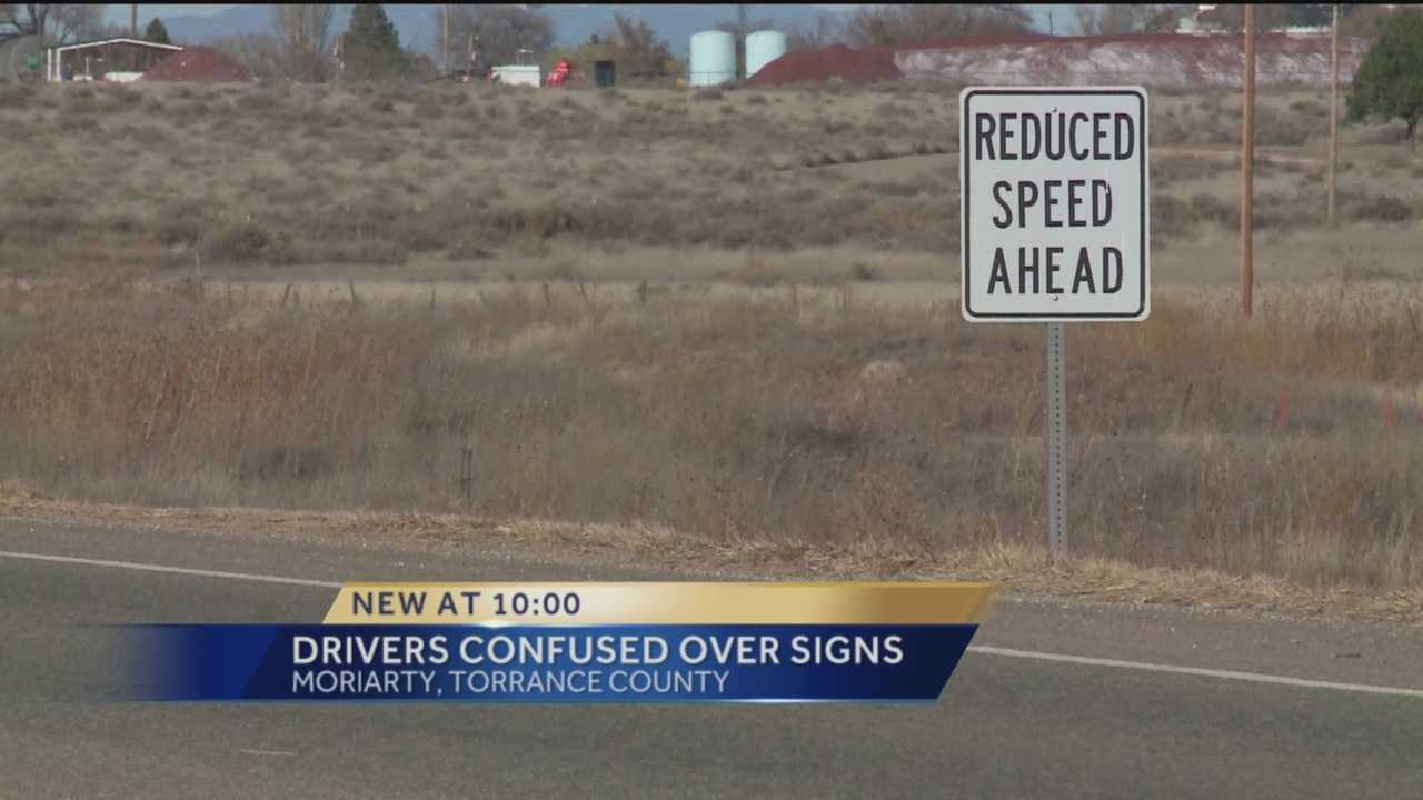 West of Moriarty, a stretch of road has two different speed limits in the same spot, and some drivers say they aren't the only ones confused.