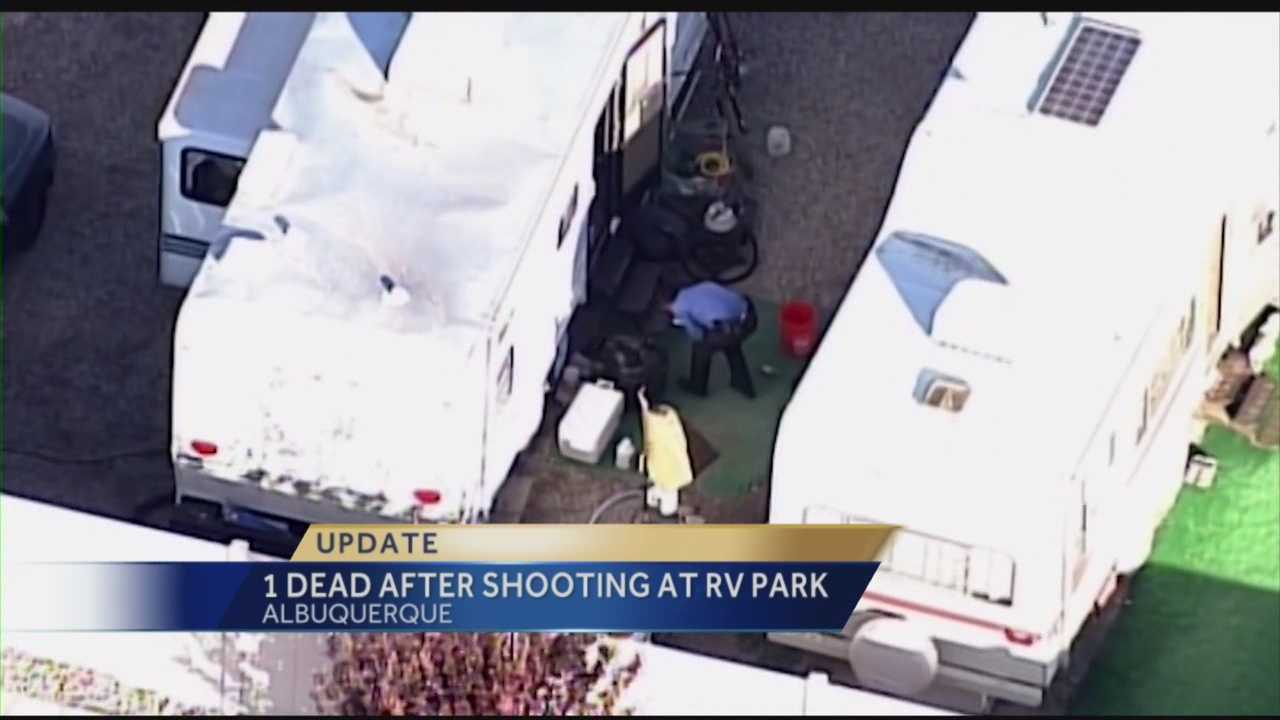 We've learned one of the two men involved in an R.V. park shooting is dead.